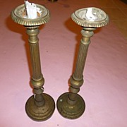 SALE Pair of Fluted Candelabra France 1890's