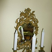 SALE Palatial Pair of Angelic French Mirror! Wall Sconces