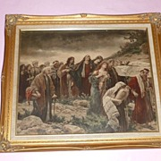 "France Ca.1900's Very Emotional ""Procession of Lazarus"""