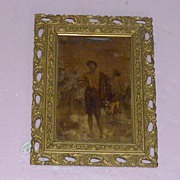 "REDUCED Important Reverse Painted ""Shepherd and his Flock"""