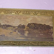 "REDUCED Framed English Colorful Essex Marked ""By Constable"""