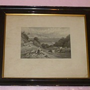 "SALE 1800's English A. Willmore Litho ""Guernsey"""