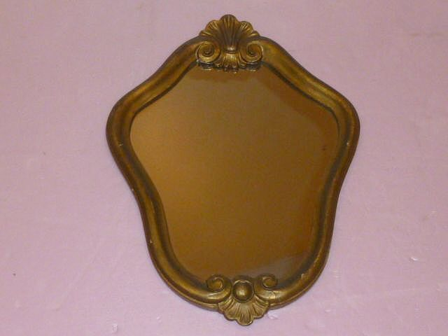 Small Italian VENEZIA Undulating Gilded Mirror