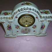 Porcelain Putti Clock Royal Bonn Germany Wunderbar!
