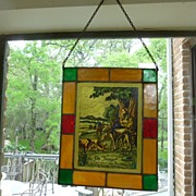 SALE Important Dutch Stained Glass of Hunter's Paradise!