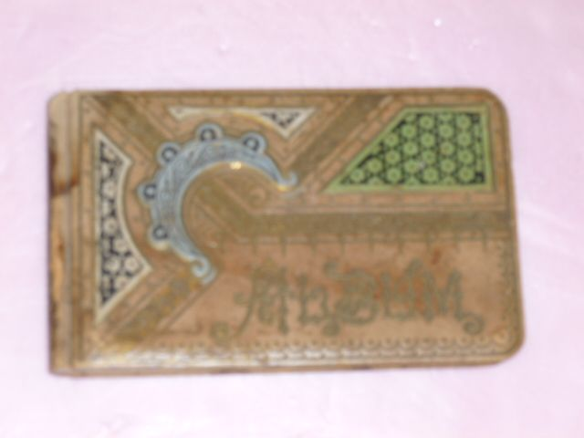 Unusual Leather Design Autograph Album 1884
