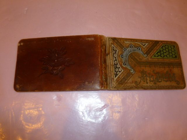"Boy's Autograph Book in Red Leather 1879 "" Settle"""