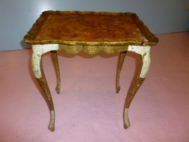 Venetian Gilt Wood Side Table