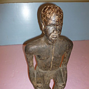 Remarkable Wooden African  Warrior Bemeleke Fon