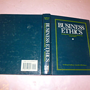 "Evergreen Book: ""Business Ethics"" 644 Pages"