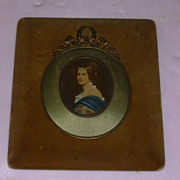 Beautiful French Princess Inside Rare Frame