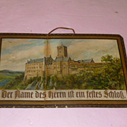 "German Inscribed Print  of Martin Luther's ""Wartburg"""