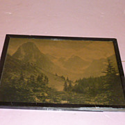 "Framed ""Swiss Alpine Meadows in the Spring"""