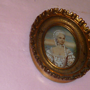 "Miniature French Picture ""Noble Tiara Lady"""