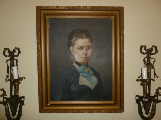 "W. Garthwaite 1876  English Oil ""Victorian Manor Lady"""