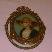 "Charming French ""Contessa with Hat"" Miniature"