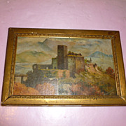 Mysterious Scottish Castle Signed Painting