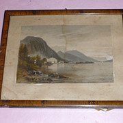 "Important Austrian ""Attersee"" Drawing, Signed"