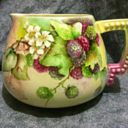 SALE Lenox CAC Belleek cider lemonade pitcher berries flowers vines 1894-1906 EXC