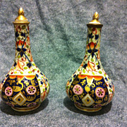 SALE Royal Crown Derby Imari scent bottles pair with stoppers 1806-1825