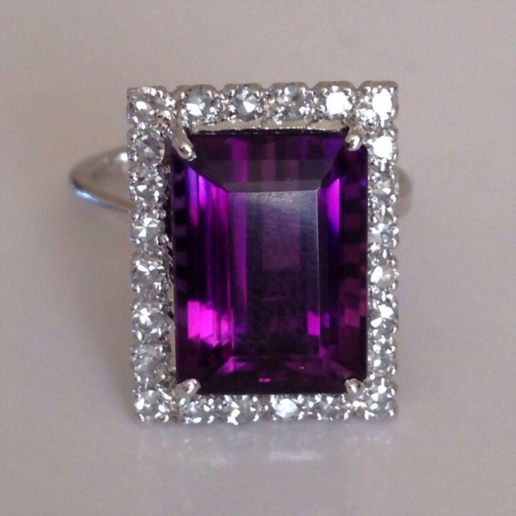 Displaying 11> Images For - Purple Vintage Engagement Rings...