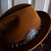 "Stetson ""Sovereign"" Brown Felted Fedora Hat"