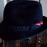 "Navy Blue Stetson Fedora: ""The Sovereign"""