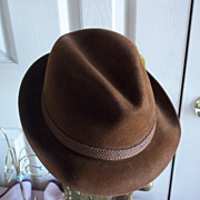 Resistol Rich Brown Fedora
