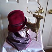 SOLD Italian Firenze Burgundy Lady's Hat