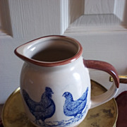 Vintage Pitcher w/ Chicken and Rooster Design