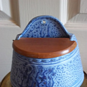 Blue and White Vintage Salt Box