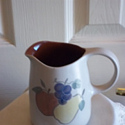 Vintage Pitcher w/ Fruit Design