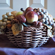 SALE PENDING Vintage Portuguese Ceramic Fruit Basket