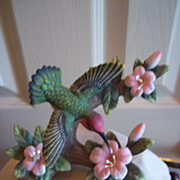 SALE PENDING Hummingbird in Flight Bisque / Porcelain Figurine