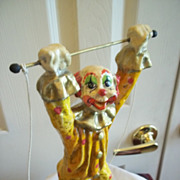 &quot;The Trapeze Artist&quot; Hand Sculpted Clown