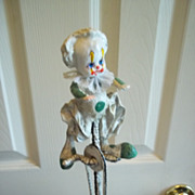 """The Bycyclist"" Hand Sculpted Clown Figure"