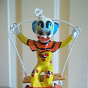 &quot;The Swinger&quot; Handcrafted Clown Sculpture