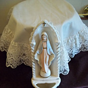 Ceramic Virgin Mary Wall Hanging