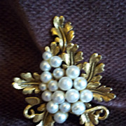 SOLD Florenza Faux Pearl Brooch / Pin