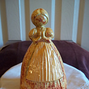 SOLD Porcelain Peasant Girl Spoon Holder