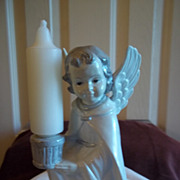 Vintage Ceramic Angel Candle Holder