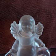 Glass Angel Sitting On Cloud