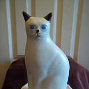 SOLD Flambro Porcelain Countryside Collection Cat Figurine