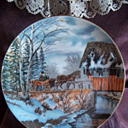 SOLD Kern Collectibles Christmas Plate, 1976: Christmas in the Country Ltd Edition