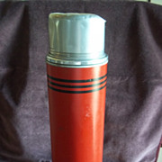 1950's Vintage 'Icy Hot Vacuum Bottle' Quart Size Thermos