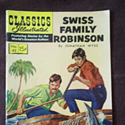 Classics Illustrated No. 43 Swiss Family Robinson October 1947