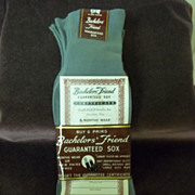 1940's Bachelor's Brand Sox: 6 Pair Vintage Socks, Packaged