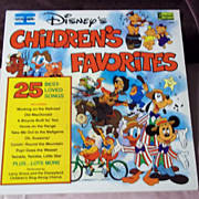 SOLD Disneyland Records Disney's Children's Favorites Vol. I Vinyl Record