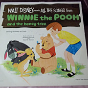 Walt Disney Presents All the Songs From Winnie the Pooh Vinyl Record 1965