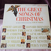 Goodyear Tire Ltd. Edition Great Songs of Christmas Album 3 Vinyl Record
